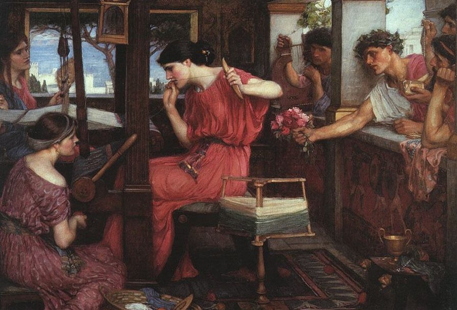Penelope spint de lijkwade - John William Waterhouse