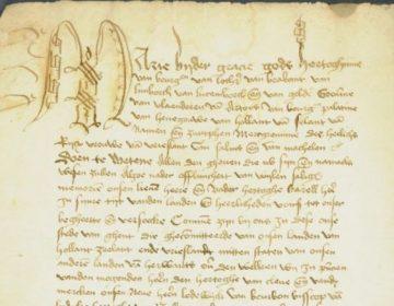 Priviliges - Detail van het Groot Privilige van Maria van Bourgondië (cc - wiki)