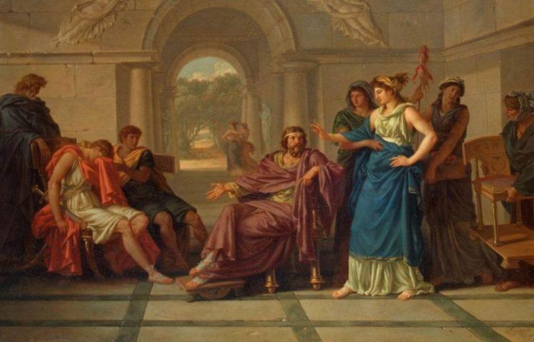 Telemachus aan het hof van koning Menelaüs