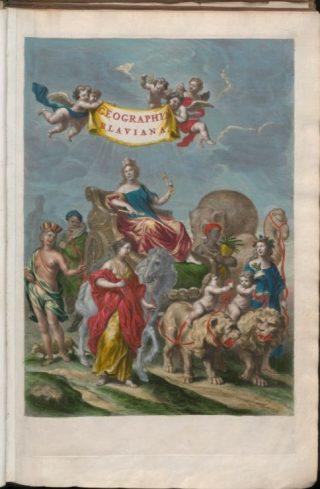 Titelprint uit de atlas van Joan Blaeu (UU)
