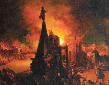 Stentor - Heraut in de Griekse mythologie - Trojaanse Oorlog, schilderij van Johann Georg Trautmann