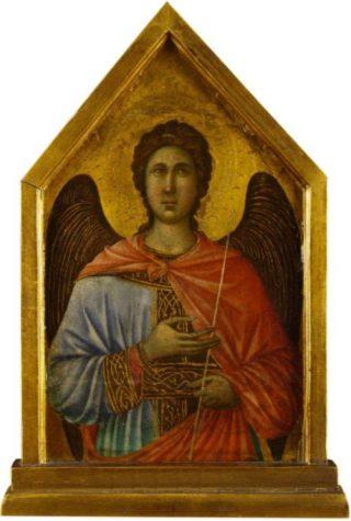 De aartsengel Gabriël van de Maesta van Duccio di Buoninsegna