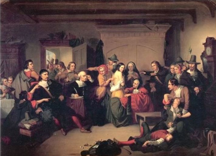 Een vermeende heks wordt onderzocht - Thompkins H. Matteson