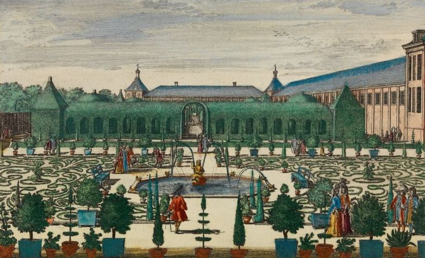 In de Koninginnetuin staat de Berceau, de overdekte loofgang. (Afb: Tuinen van Paleis Het Loo)