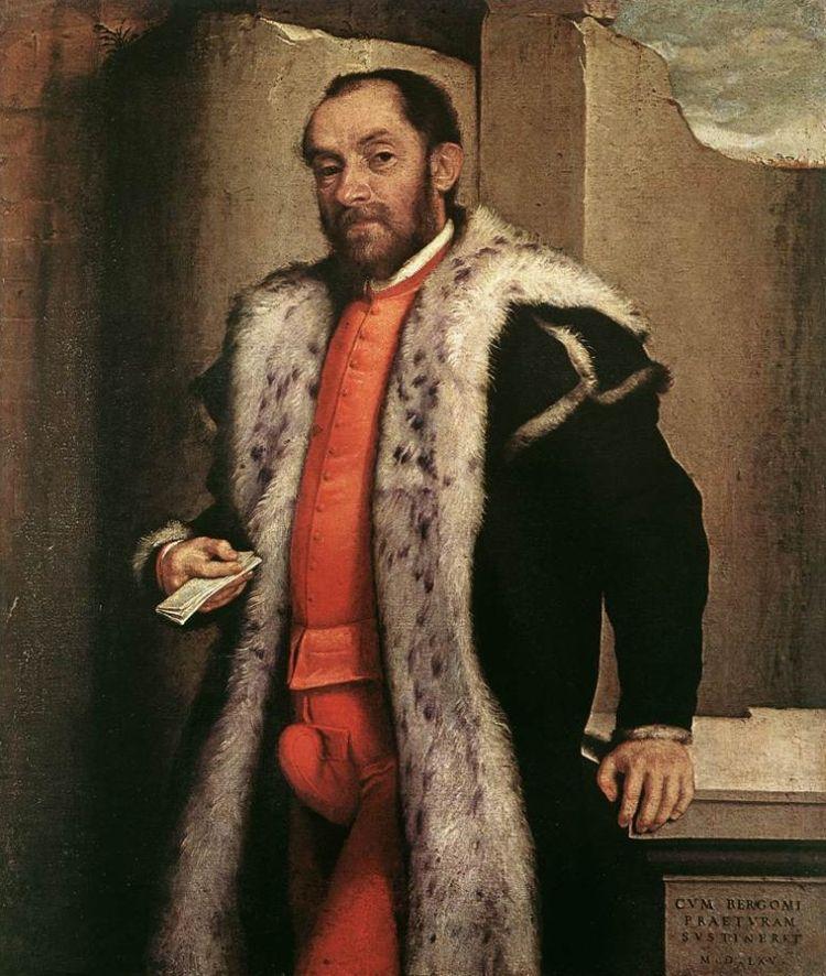 Portret van Antonio Navagero uit 1565 van de Italiaanse schilder Giovanni Battista Moroni