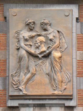 Hendrik Beyaert, 1823-1894. Bas-reliëf van Paul Dubois, op de zijgevel van het Huis der Parlementariers in de Hertogstraat te Brussel. (cc - Olnnu)