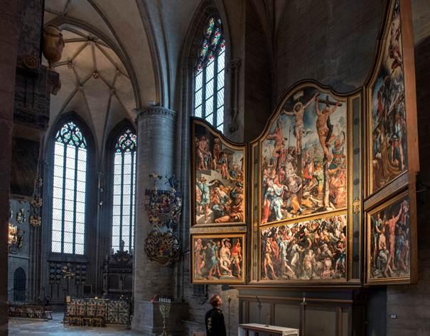 Kathedraal Linköping met Laurentius-altaarstuk. (Foto: Margareta Svensson - Stedelijk Museum Alkmaar)
