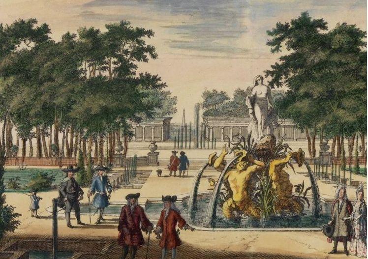 Op deze laat-17e-eeuwse gravure is de Venus-fontein in de Benedentuin te zien. (Afb: Tuinen van Paleis Het Loo )