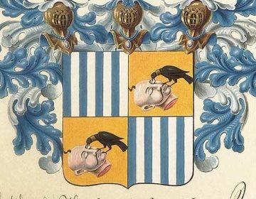 Aristocratie - Detail van een adellijk familiewapen