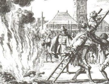 Bekende afbeelding van een andere heksenverbranding, die van Anneken Hendriks in Amsterdam (1571)