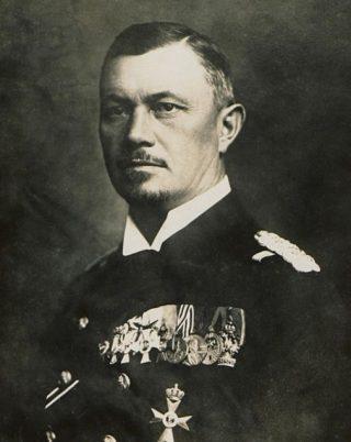 De Duitse vlootcommandant Reinhard Scheer
