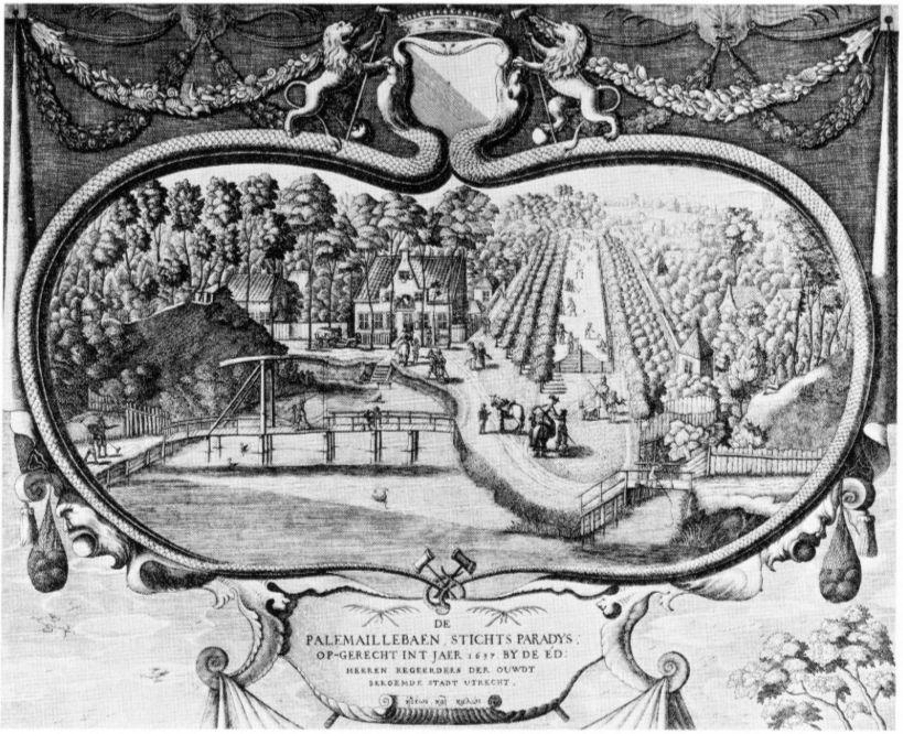 De Maliebaan in 1645 (Universiteitsbibliotheek Leiden)