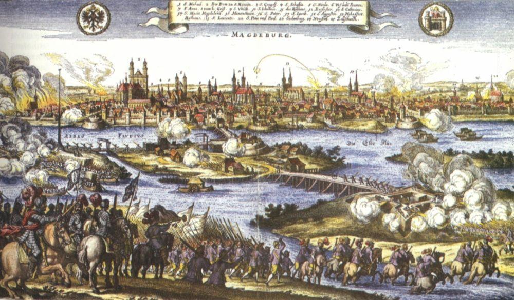 De inname van Maagdenburg in 1631 staat symbool voor de verwoestingen tijdens de Dertigjarige Oorlog