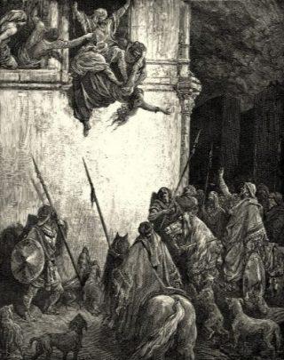 Defenestratie van Jezebel volgens Defenestratie van Jezebel volgens Gustave Doré