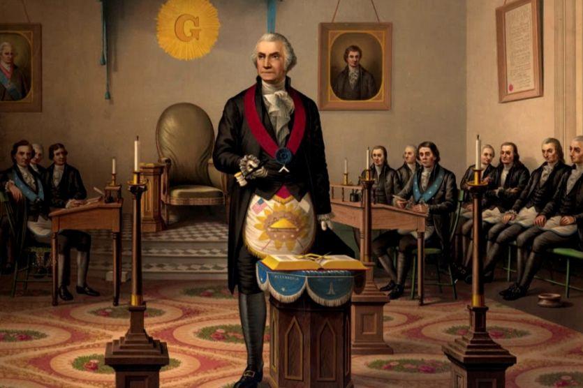 George Washington als vrijmetselaar (1870)
