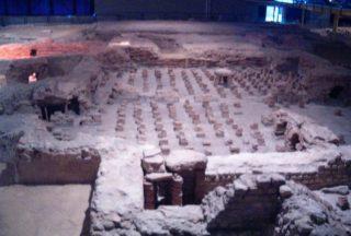 Hypocaustum in het Thermenmuseum, Heerlen (wiki - Steven Lek)