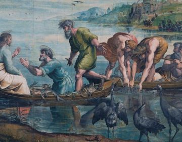 Jezus bij het meer van Galilea - Raphael