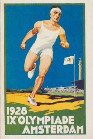 Poster voor de Olympische Spelen van 1928 in Amsterdam