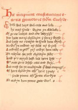 Regius Poem (Halliwell Manuscript)