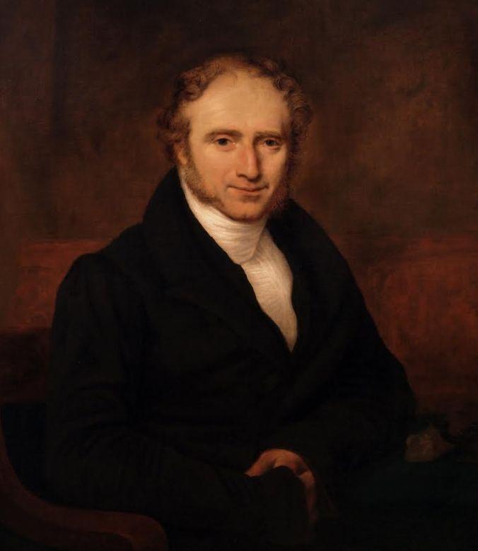 Caspar Reuvens, de eerste directeur van het 'archaeologisch cabinet' dat vanaf 1818 zou uitgroeien tot het Rijksmuseum voor Oudheden. (Schilderij Stadsmuseum Harderwijk)