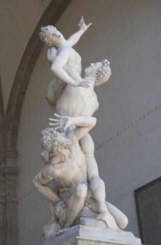 Sabijnse Maagdenroof - Giambologna, Loggia dei Lanzi in Florence
