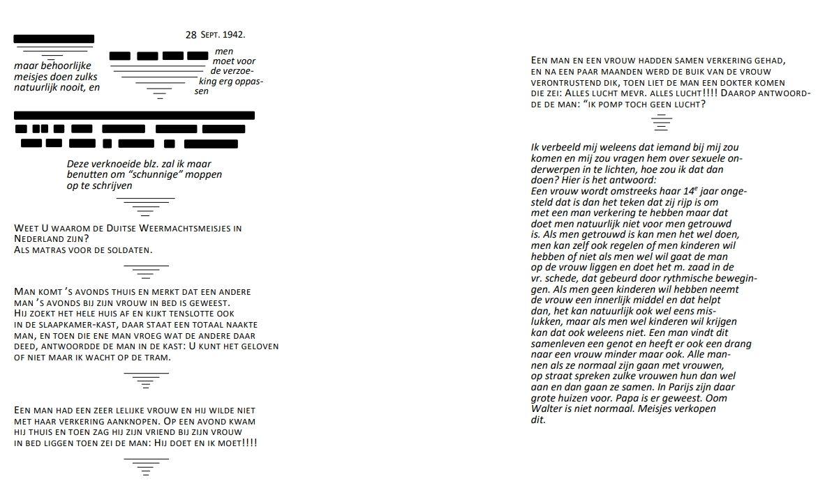 Transcriptie (klik voor vergroting) - Afb Anne Frank Stichting