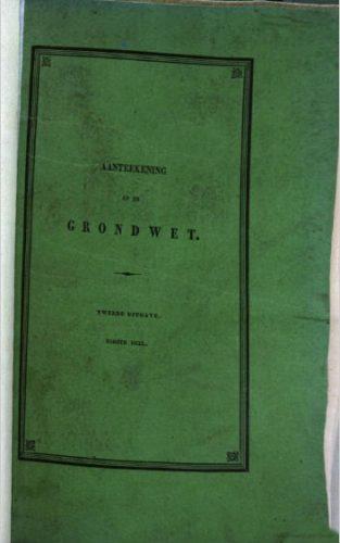 Aanteekening op de grondwet. Bron: Google  books.