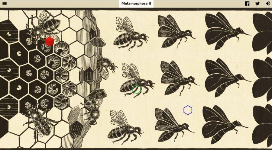 """Escher 4_Part of M.C. Escher's """"Metamorphose II"""" © The M.C. Escher Company. All rights reserved."""