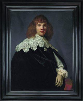 De eerder dit jaar door Six ontdekte Rembrandt: Portret van een jonge man'(olieverf op doek, 94,5×73,5 cm.) Foto René Gerritsen - Hermitage