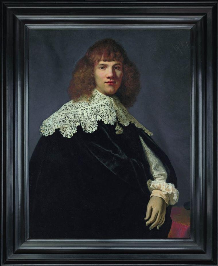 Rembrandt van Rijn (1606-1669): Portret van een jonge man'(olieverf op doek, 94,5×73,5 cm.) Foto René Gerritsen - Hermitage