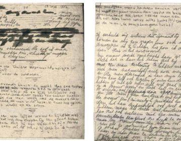 De zichtbaar gemaakt pagina's - Afb: Anne Frank Stichting