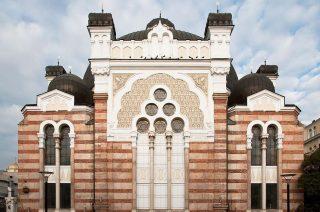 De synagoge van Sofia; ooit middelpunt van de omvangrijke Joodse bevolking van Bulgarije. Tijdens de Tweede Wereldoorlog bleven deportaties uit, maar daarna emigreerden de meeste Joden. (wiki)