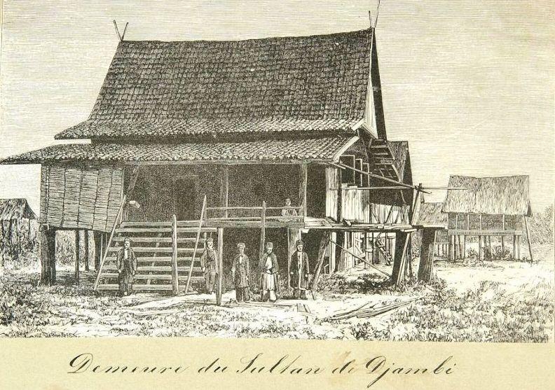 De woning van de Sultan van Djambi. (Wikimedia Commons/Tropenmuseum)