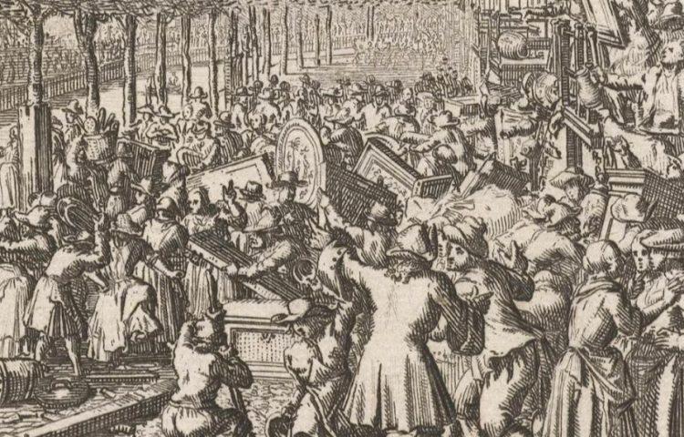 Aansprekersoproer - Plundering van de woning van de Amsterdamse burgemeester Boreel.