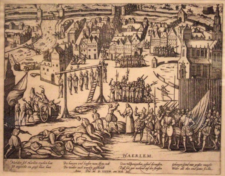 Executies door de Spanjaarden na de val van Haarlem