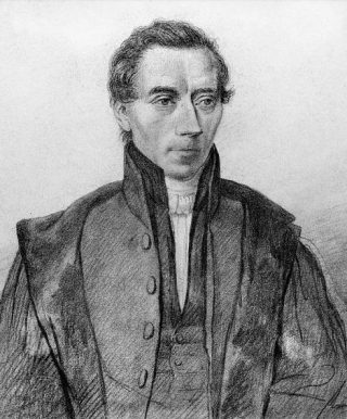 Thorbecke alsjonge hoogleraar, tekening ca.1830.