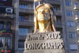 Bronzen borstbeeld van Jean de Selys Longchamps in Brussel (cc-Paul Boedts-wiki)