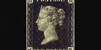 De Penny Black, de allereerste postzegel