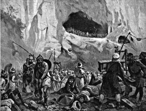 De slag bij Covadonga, 721