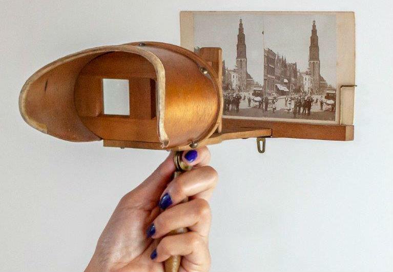 Kaart in stereokijker - Foto: Marij Kloosterhof - Idee: Lena Jaensch
