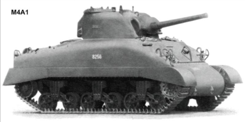 M4 Sherman (Publiek Domein - wiki - U.S. War Department)