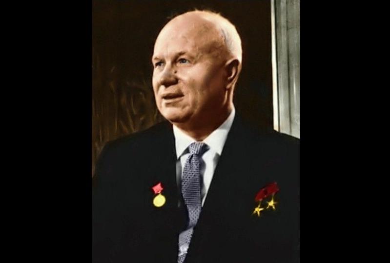 Nikita Chroesjtsjov (1894-1971) - Russische president (John Fitzgerald Kennedy Library)