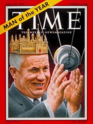 Nikita Chroesjtsjov werd begin 1958 uitgeroepen tot TIME's 'Man van het Jaar' - wiki
