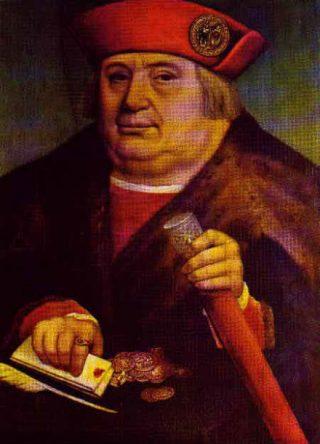 Portret van Frans van Tassis