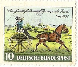 Postzegel van de Thurn und Taxis-post in 1852 (wiki)