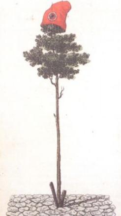 Vrijheidsboom met Frygische muts in top