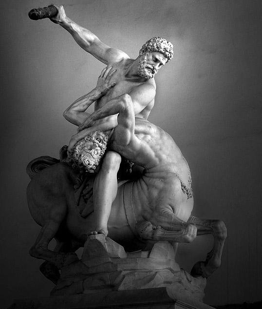 'Hercules in gevecht met de Centaur Nessos', Giambologna (cc - Ricardo André Frantz)