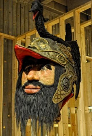 Hoofd van de stadsreus Druon Antigoon in het Antwerpse Museum aan de Stroom (cc - wiki)