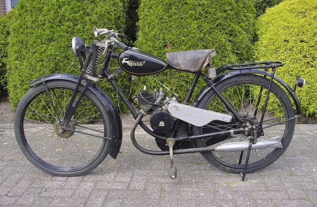 Gazelle-motorfietsje met 74cc-Sachs-motor uit 1935 (cc - wiki - Yesterdays Antique Motorcycles)