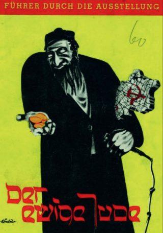 Voorblad van de brochure van de expositie 'Der Ewige Jude', Berlijn 1938 (Boek R. Moorhouse / JP)